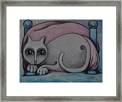 Cat  2001 Framed Print by S A C H A -  Circulism Technique