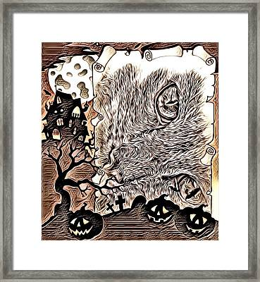 Cat Abstract By Artful Oasis 2 Framed Print
