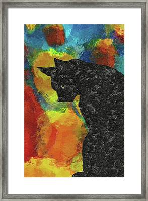 Cat Abstract Framed Print