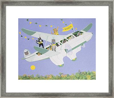 Cat Air Show Framed Print