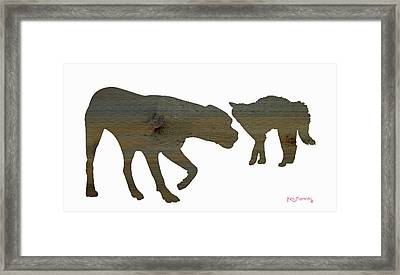 Cat And Dog 2 Framed Print by Ken Figurski