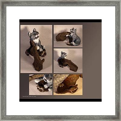 Cat And Mice Alternate Views Framed Print