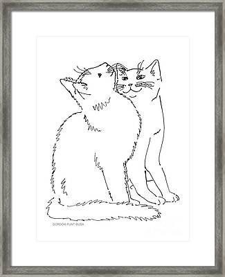 Cat-art-curious Framed Print
