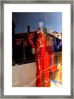 Cat Devil Framed Print by Jez C Self