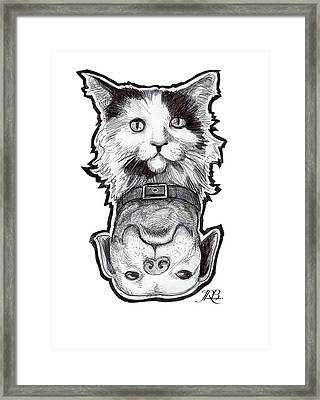 Cat Dog Framed Print