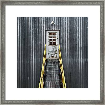 Framed Print featuring the photograph Cat Door by Richard George