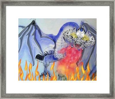 Cat Dragon Framed Print