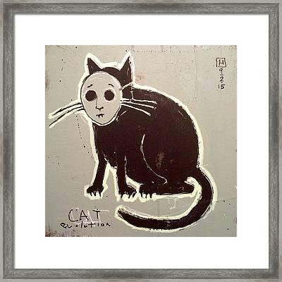 Cat Evolution Framed Print by H James Hoff