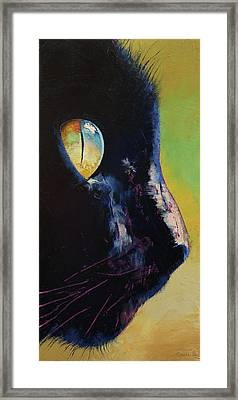 Cat Eye Framed Print by Michael Creese