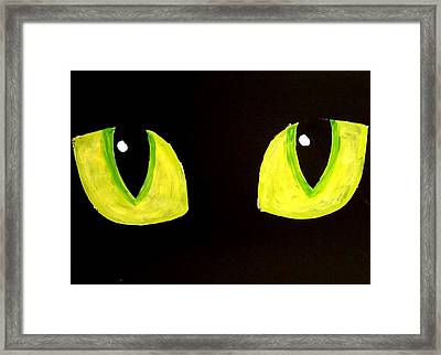 Cat Eyes Framed Print by Teo Alfonso