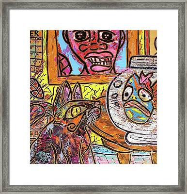 Cat Fish Framed Print