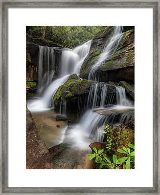 Cat Gap Loop Trail Waterfall Framed Print