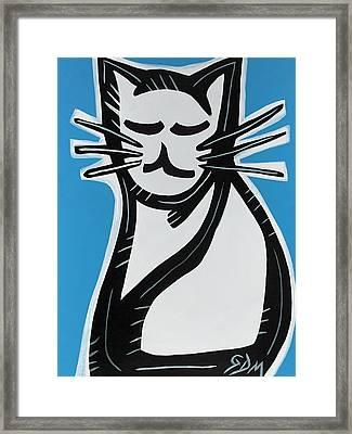 Cat Framed Print by Geoffrey Doig-Marx