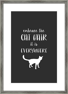 Cat Hair Framed Print