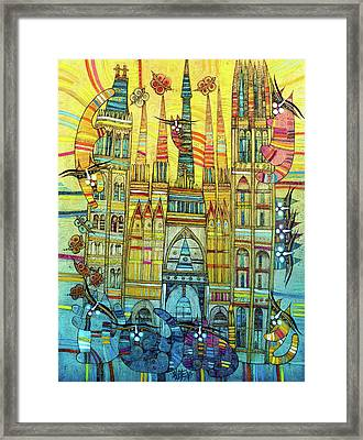 Cat-hedral Framed Print