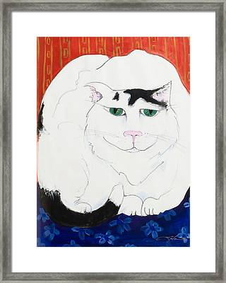 Cat II - Cat Dozing Off Framed Print