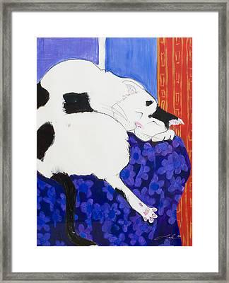 Cat IIi Peaceful   Framed Print by Leela Payne