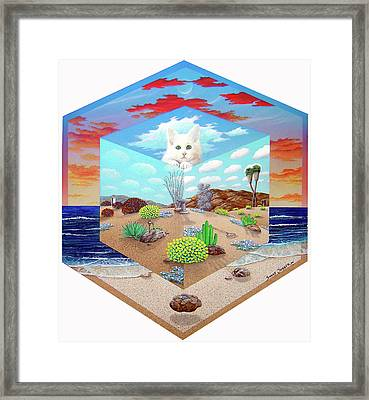 Cat In The Box Framed Print by Snake Jagger