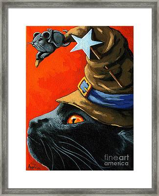 Cat In The Hat With Company Framed Print