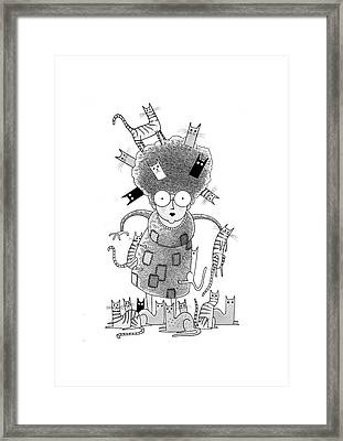 Cat Lady  Framed Print by Andrew Hitchen