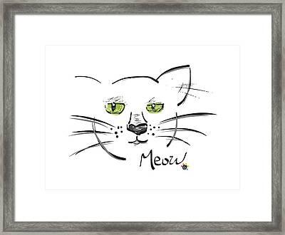 Cat Meow Framed Print