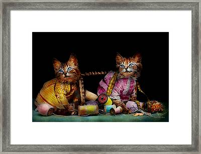 Cat - Mischief Makers 1915 Framed Print by Mike Savad