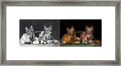 Cat - Mischief Makers 1915 - Side By Side Framed Print