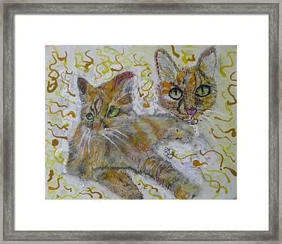 Framed Print featuring the painting Cat Named Phoenicia by AJ Brown