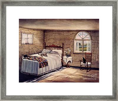 Cat Nap Framed Print by Robert Foster