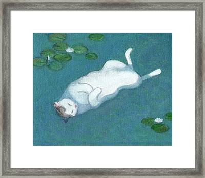Cat On Vacation Framed Print