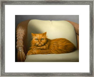 Cat Portrait Of Tosca Framed Print by Eric Bossik