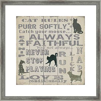 Cat Rules-jp3038 Framed Print