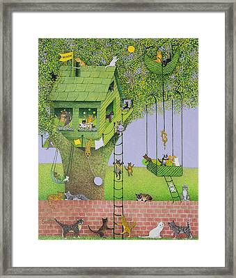 Cat Tree House Framed Print