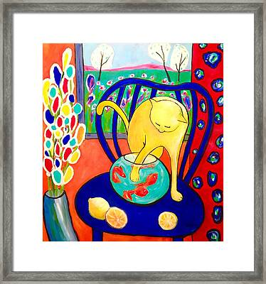 Cat - Tribute To Matisse Framed Print