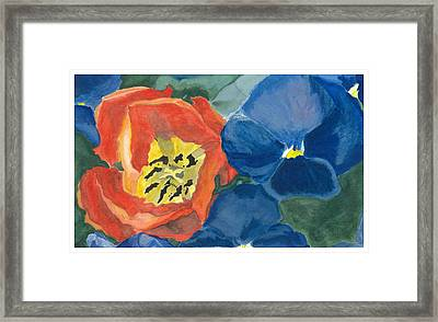 Framed Print featuring the painting Cat Tulip by Joel Deutsch