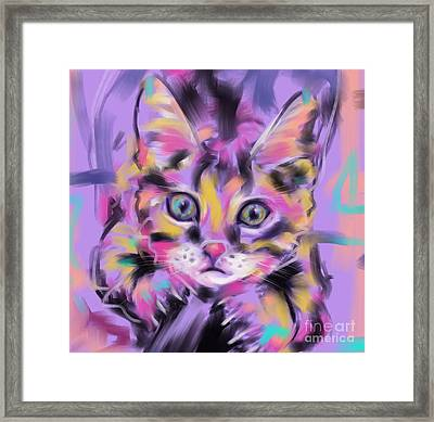 Cat Wild Thing Framed Print by Go Van Kampen