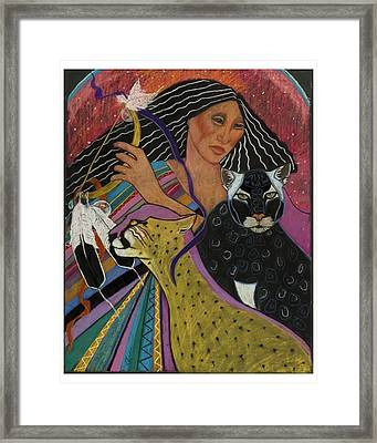 Cat Woman From Palenque Framed Print