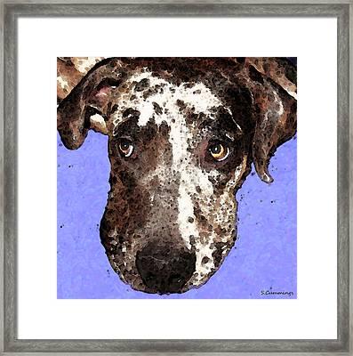 Catahoula Leopard Dog - Soulful Eyes Framed Print