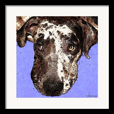 Catahoula Framed Prints