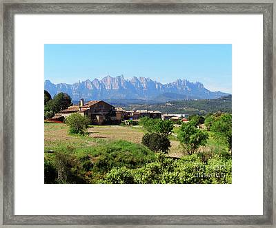 Catalan Landscape In Spring Framed Print by Don Pedro De Gracia