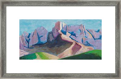 Framed Print featuring the painting Catalina Blue by Mordecai Colodner