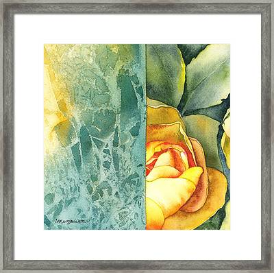 Framed Print featuring the painting Catalina by Casey Rasmussen White