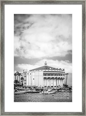 Catalina Casino Black And White Photo Framed Print by Paul Velgos