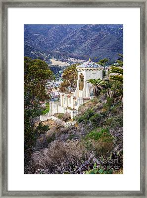 Catalina Chimes Tower On Catalina Island Framed Print by Paul Velgos