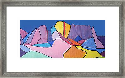 Framed Print featuring the painting Catalina Fugue by Mordecai Colodner
