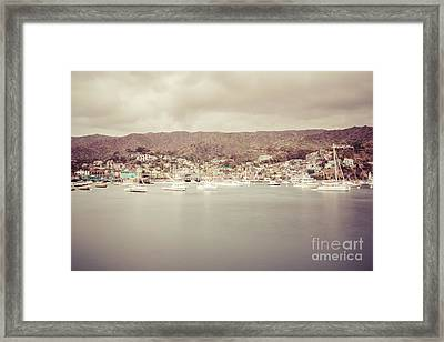 Catalina Island Avalon Bay Retro Photo Framed Print