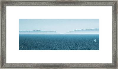 Catalina Island Large Panoramic Color Fine Art Print On Metal Framed Print by Ben and Raisa Gertsberg