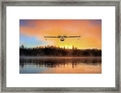 Catalina Lake Landing Framed Print by J Biggadike