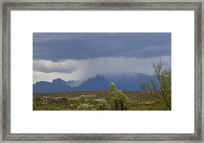 Catalina Monsoon Rains Framed Print