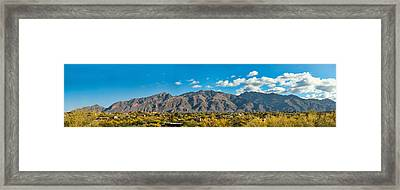 Framed Print featuring the photograph Catalina Mountain Panorama by Dan McManus